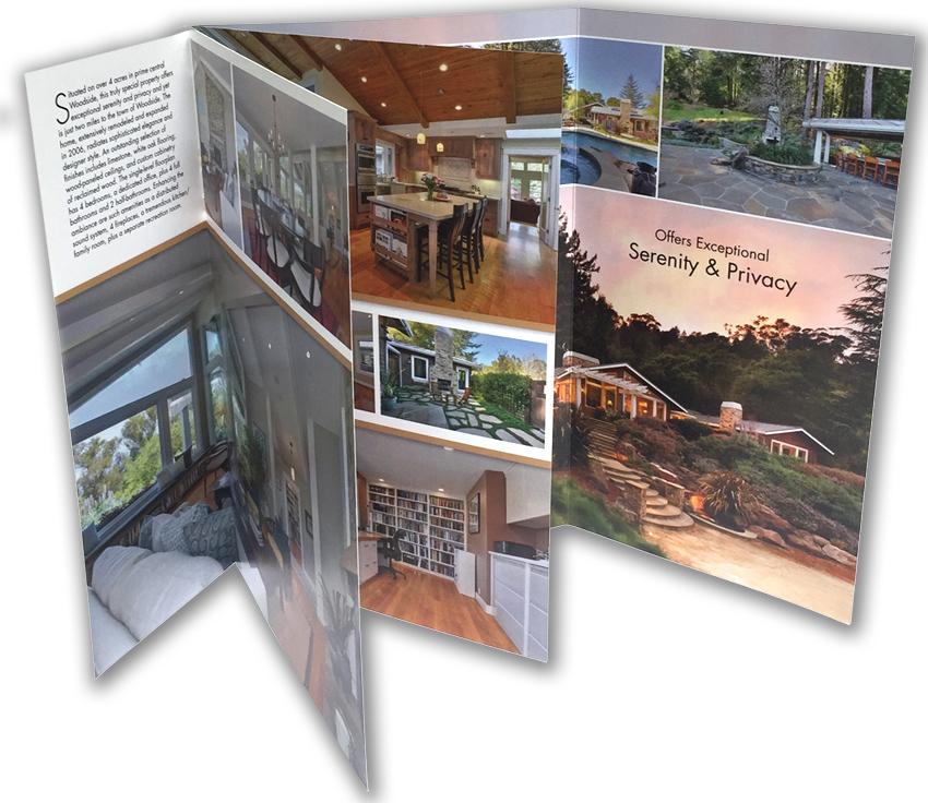 Custom brochure formats